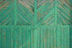 Oude houten poort Royalty-vrije Stock Foto's