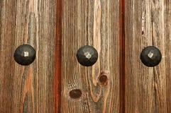 Oude houten poorttextuur Stock Foto