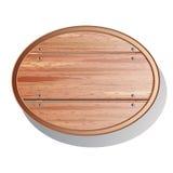 Oude houten raad stock illustratie