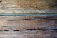 Oude houten raad met gekrast stock foto