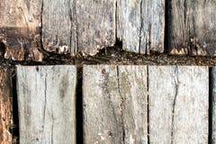 Oude houten raad met natuurlijke textuur Stock Foto's