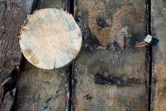 Oude houten raad met natuurlijke textuur Royalty-vrije Stock Foto's