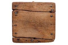 Oude houten raad met spijkers Stock Foto's