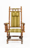 Oude houten schommelstoel Royalty-vrije Stock Foto's