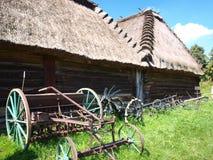 Oude houten schuur, Lublin, Polen Stock Afbeeldingen