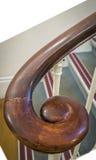 Oude houten spiraalvormige leuning Royalty-vrije Stock Afbeelding