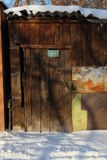 Oude houten staldeur Royalty-vrije Stock Fotografie