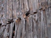 Oude houten stipmuur Stock Fotografie