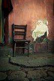 Oude houten stoel Stock Foto