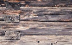 Oude houten stralenmuur Textuur Achtergrond Stock Foto's