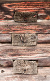Oude houten stralenmuur Textuur Achtergrond Stock Foto