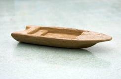 Oude houten stuk speelgoed boot Royalty-vrije Stock Afbeelding