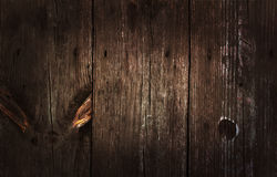 Oude houten textuur met knopen Stock Fotografie