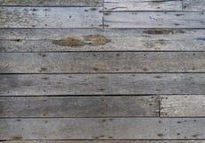 Oude houten textuurachtergrond Flor van het huis van de Visser stock afbeelding