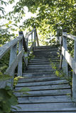 Oude houten Trap Stock Foto