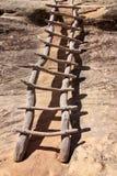 Oude houten treden Royalty-vrije Stock Foto