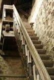 Oude houten treden Royalty-vrije Stock Afbeeldingen