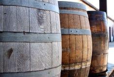 Oude houten vaten Stock Foto