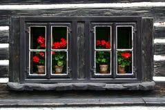 Oude houten vensters Stock Afbeelding