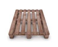 Oude houten verschepende pallet Royalty-vrije Stock Foto's