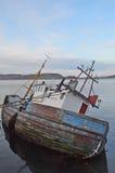 Oude houten vissersboot Royalty-vrije Stock Afbeeldingen