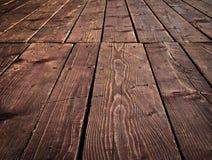 Oude houten vloeren met raad royalty-vrije stock fotografie