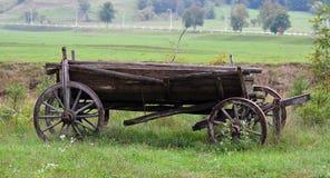 Oude houten wagen Royalty-vrije Stock Foto's