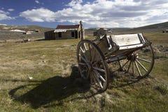 Oude houten wagen Stock Foto's