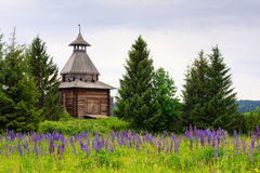 Oude houten watchtower Royalty-vrije Stock Foto