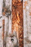 Oude houten weg Royalty-vrije Stock Afbeelding