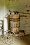 Oude houten wijnpers Royalty-vrije Stock Foto's