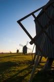 Oude houten windmolens, Zweden Royalty-vrije Stock Fotografie
