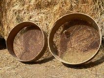 Oude houten zeef Royalty-vrije Stock Foto