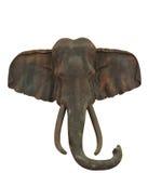 Oude houtsnijwerkolifanten Royalty-vrije Stock Foto