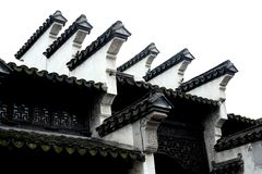 Oude huiseaves van Chinees Royalty-vrije Stock Afbeeldingen