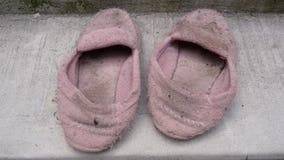 Oude huisschoenen Stock Foto