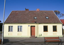 Oude huisvoorzijde, Polen. Royalty-vrije Stock Foto