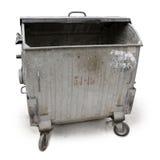Oude huisvuilcontainer Stock Afbeeldingen