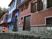 Oude huizen stock fotografie