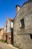 Oude Huizen in een Straat royalty-vrije stock afbeeldingen