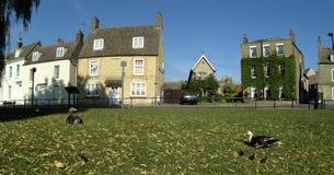 Oude huizen in Ely Stock Foto's