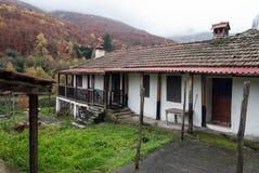 Oude huizen in Griekenland Stock Afbeeldingen
