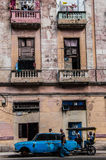 Oude huizen in Havana, Cuba Royalty-vrije Stock Afbeeldingen