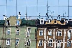 Oude huizen in Krakau. Royalty-vrije Stock Foto