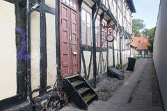 Oude huizen in Nakskov Royalty-vrije Stock Afbeelding