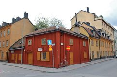 Oude huizen op Södermalm Royalty-vrije Stock Fotografie
