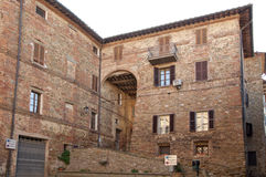 Oude huizen in Panicale Royalty-vrije Stock Afbeelding