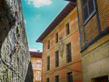 Oude Huizen in Pasajes-Dorp San Sebastian Stock Foto