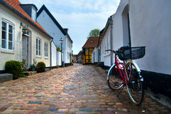 Oude huizen in Ribe Royalty-vrije Stock Foto's