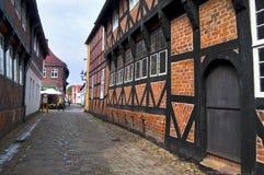 Oude huizen in Ribe Royalty-vrije Stock Afbeeldingen